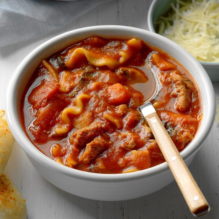 Slow-Cooked Lasagna Soup