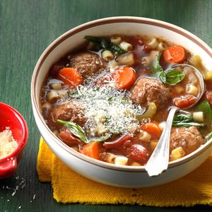 Slow-Cooked Meatball Soup