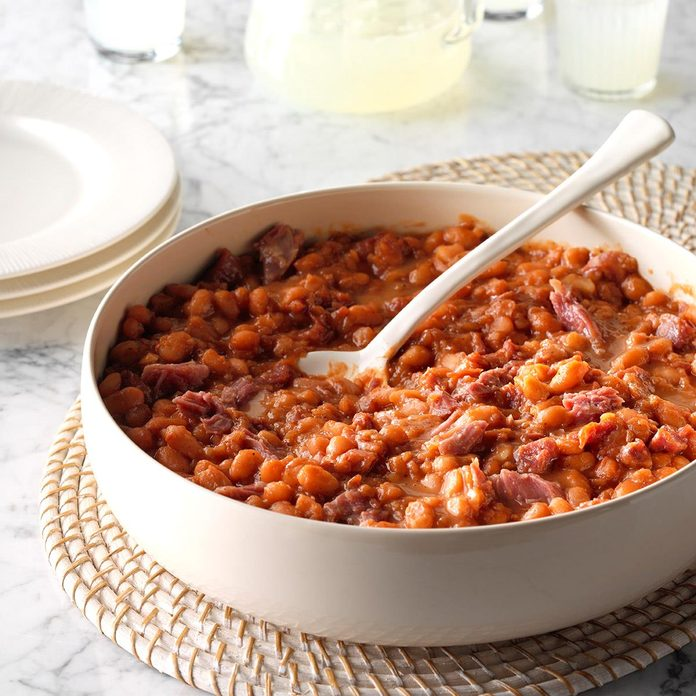 Slow-Cooker BBQ Baked Beans