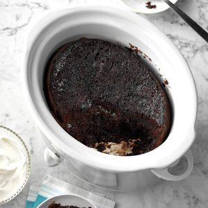 Slow-Cooker Chocolate Lava Cake