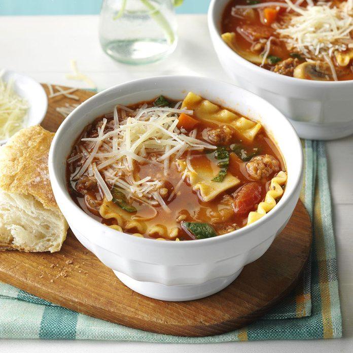 Slow-Cooker Lasagna Soup