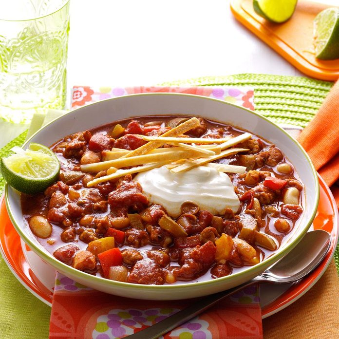 Slow-Cooker Lime Chicken Chili