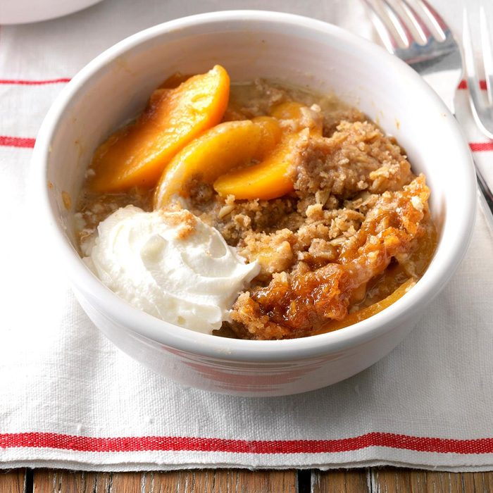 Slow-Cooker Peach Crumble