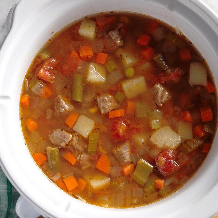 Slow-Cooker Vegetable Soup