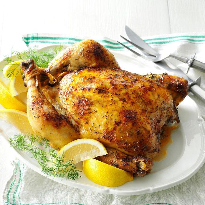 Slow-Roasted Lemon Dill Chicken