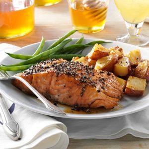 Smoked Honey-Peppercorn Salmon