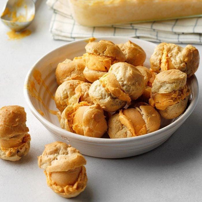 Spiced Pumpkin Ice Cream Puffs