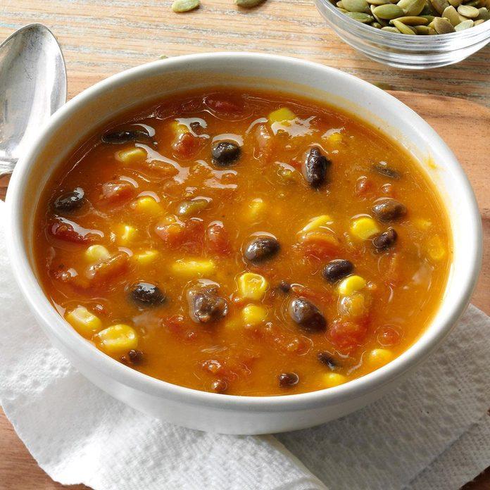 Spicy Pumpkin & Corn Soup