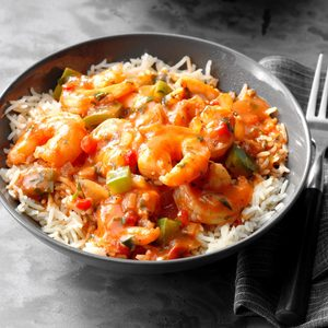 Spicy Shrimp with Rice
