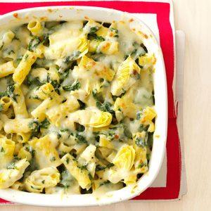Spinach-Artichoke Rigatoni