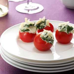 Spinach Artichoke-Stuffed Tomatoes