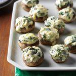 Spinach Dip-Stuffed Mushrooms