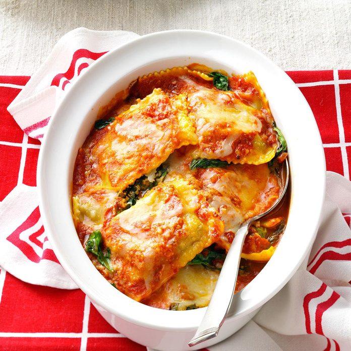 Spinach Ravioli Bake