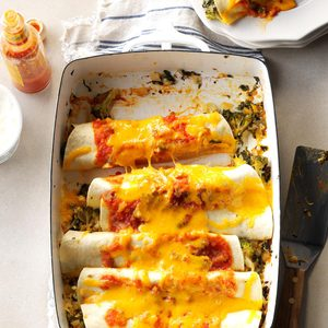 Spinach 'n' Broccoli Enchiladas