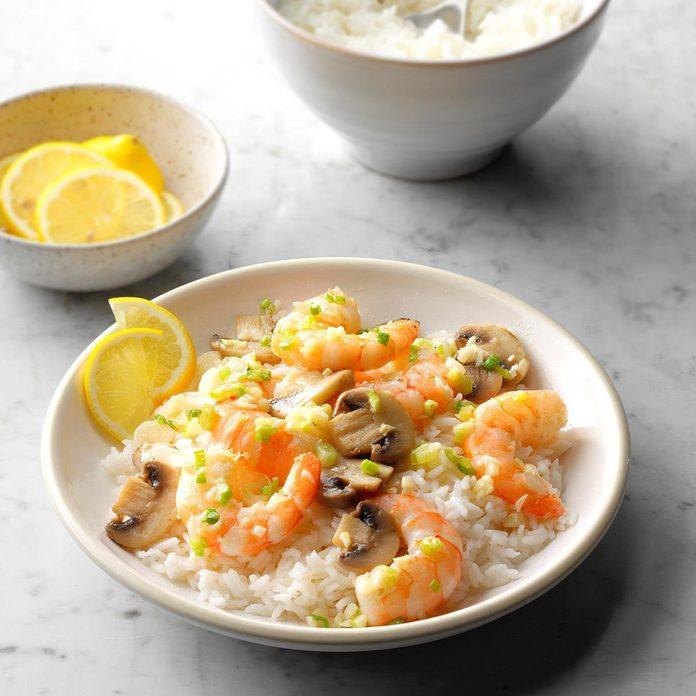 Stir-Fried Shrimp and Mushrooms
