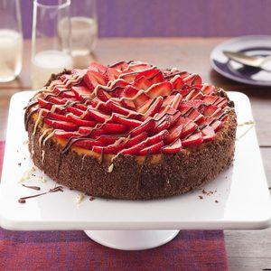 Strawberries and Champagne Cheesecake