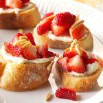 Strawberry and Cream Bruschetta