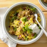 Beef and Black Bean Spaghetti Squash