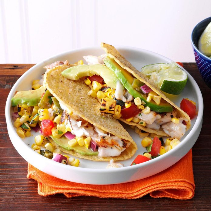 Summer Garden Fish Tacos