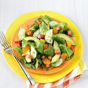 Summer Salads with Mandarin Oranges