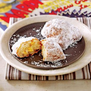 Sweet Corn Beignets with Bacon-Sugar Dust