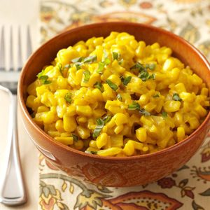 Sweet Corn & Saffron Risotto