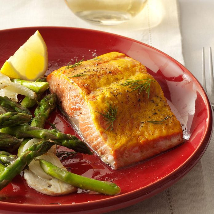 Inspired by: Cedar Salmon with Maple Mustard