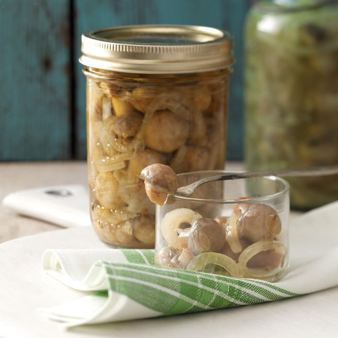 Tangy Pickled Mushrooms