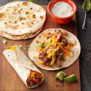 Tender Steak Fajitas
