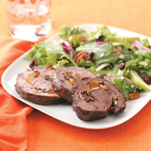 Tenderloin with Cremini-Apricot Stuffing