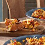 Three-Cheese Tomato Garlic Bread