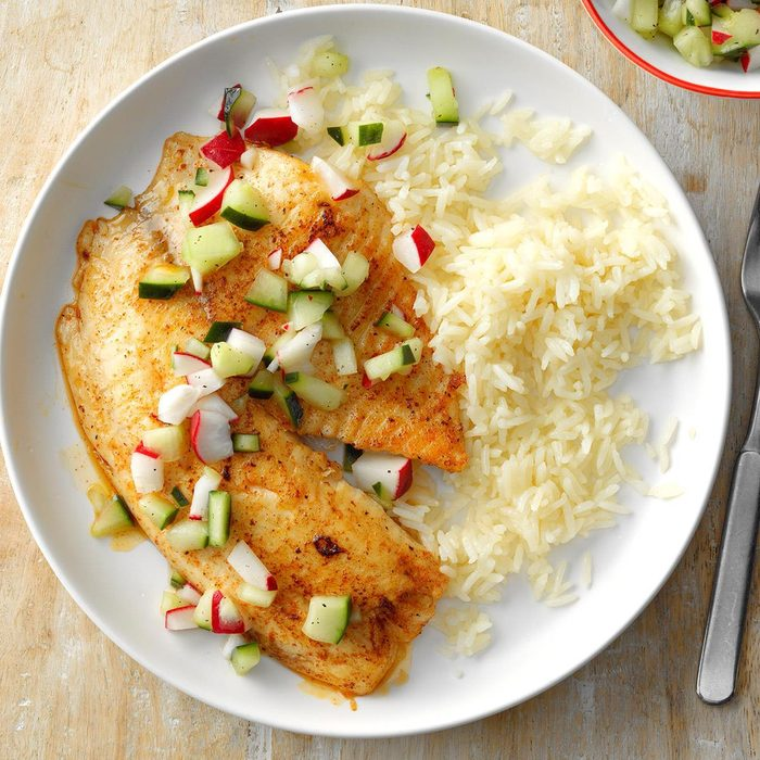 Tilapia with Cucumber Relish