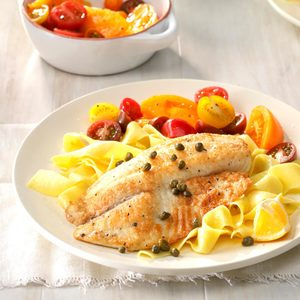 Tilapia with Lemon Caper Sauce