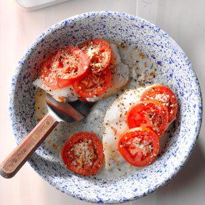 Tomato-Basil Baked Fish