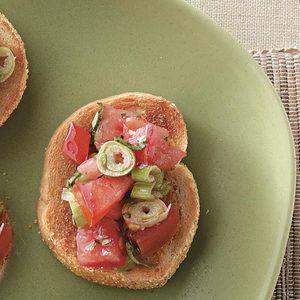 Tomato-Basil Bruschetta Appetizer