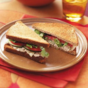Tuna Caesar Sandwiches