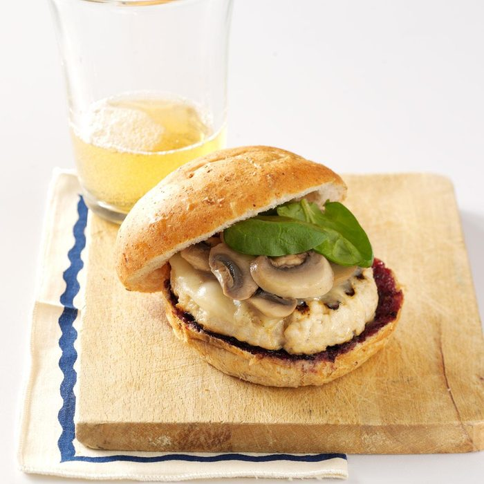 Turkey Burgers with Blueberry BBQ Sauce