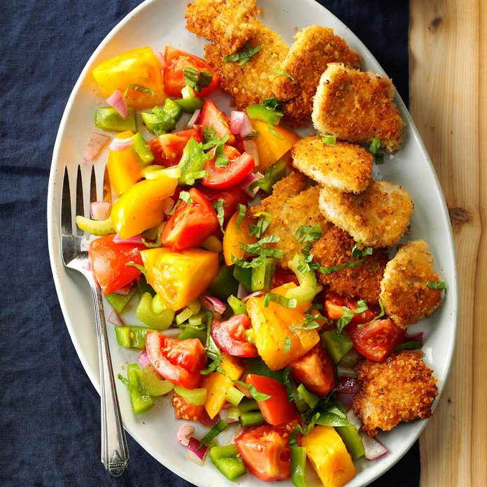 Turkey Medallions with Tomato Salad