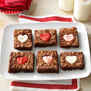 Valentine Heart Brownies