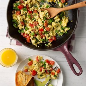 Vegetable Scrambled Eggs