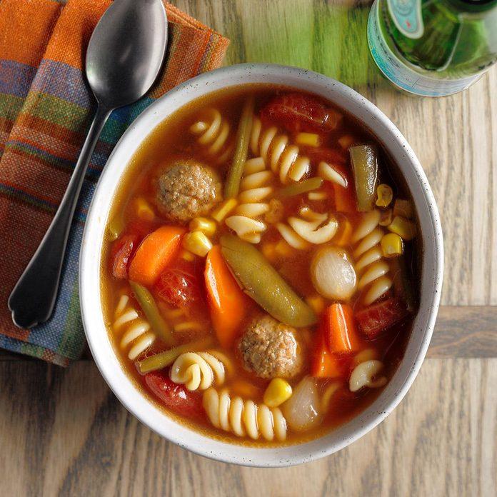 Veggie Meatball Soup