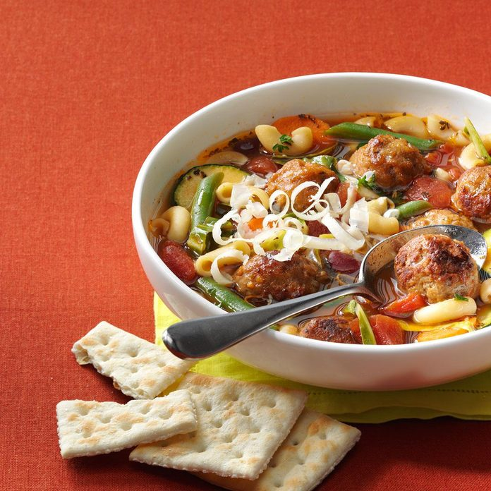 Veggie Soup with Meatballs