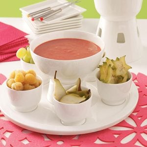 Warm Strawberry Fondue