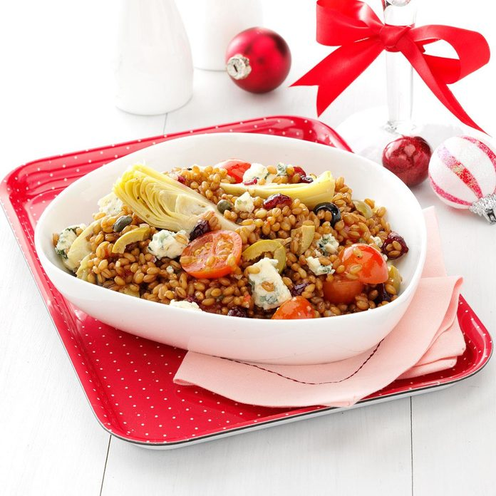 Wheat Berry Salad with Artichokes and Cranberries