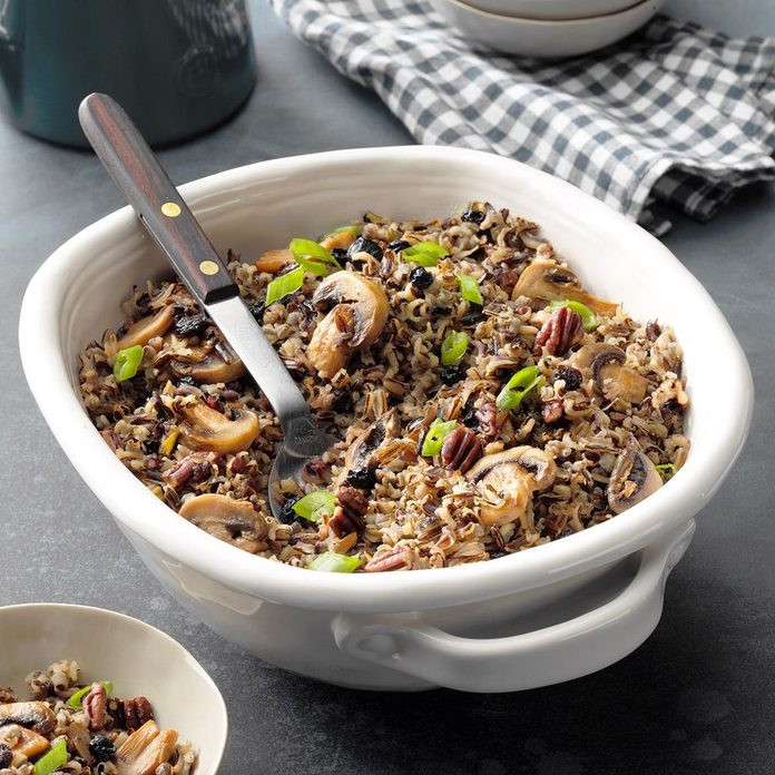 Wild Rice with Dried Blueberries