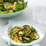 Wilted Shiitake Spinach Salad