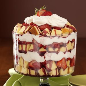 Zinfandel Strawberry Trifle