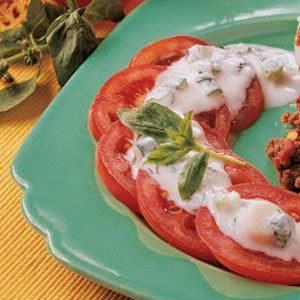 Tomatoes with Basil-Garlic Dressing