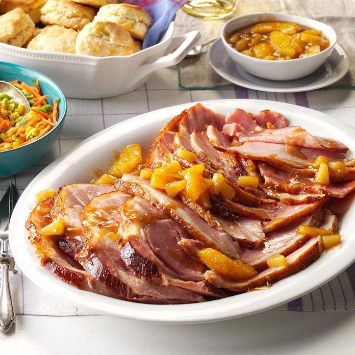 Citrus-Spice Glazed Ham