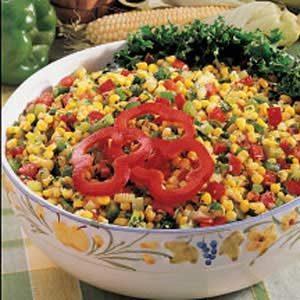 Quick Colorful Corn Salad